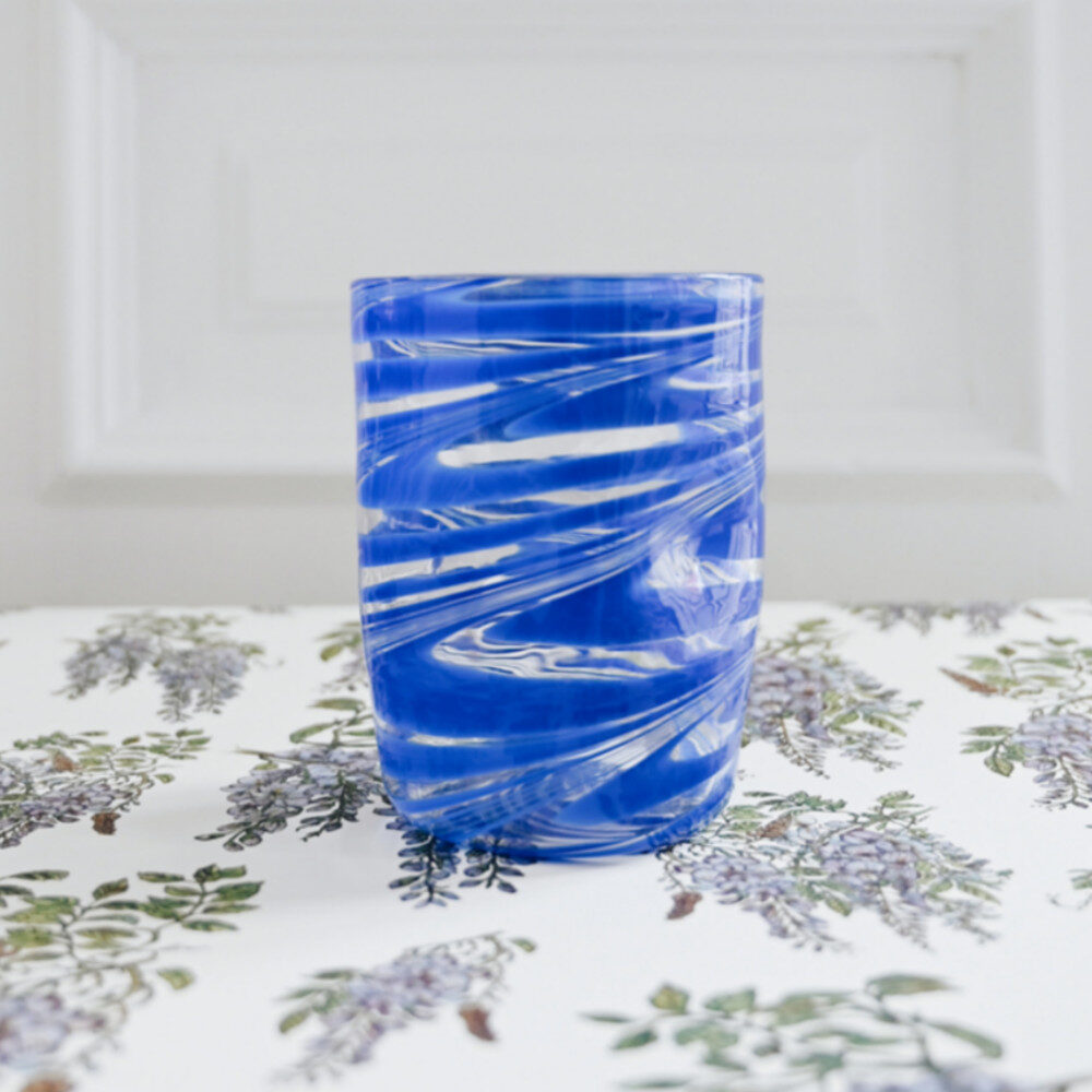 Bright August March The Capri Glass blue