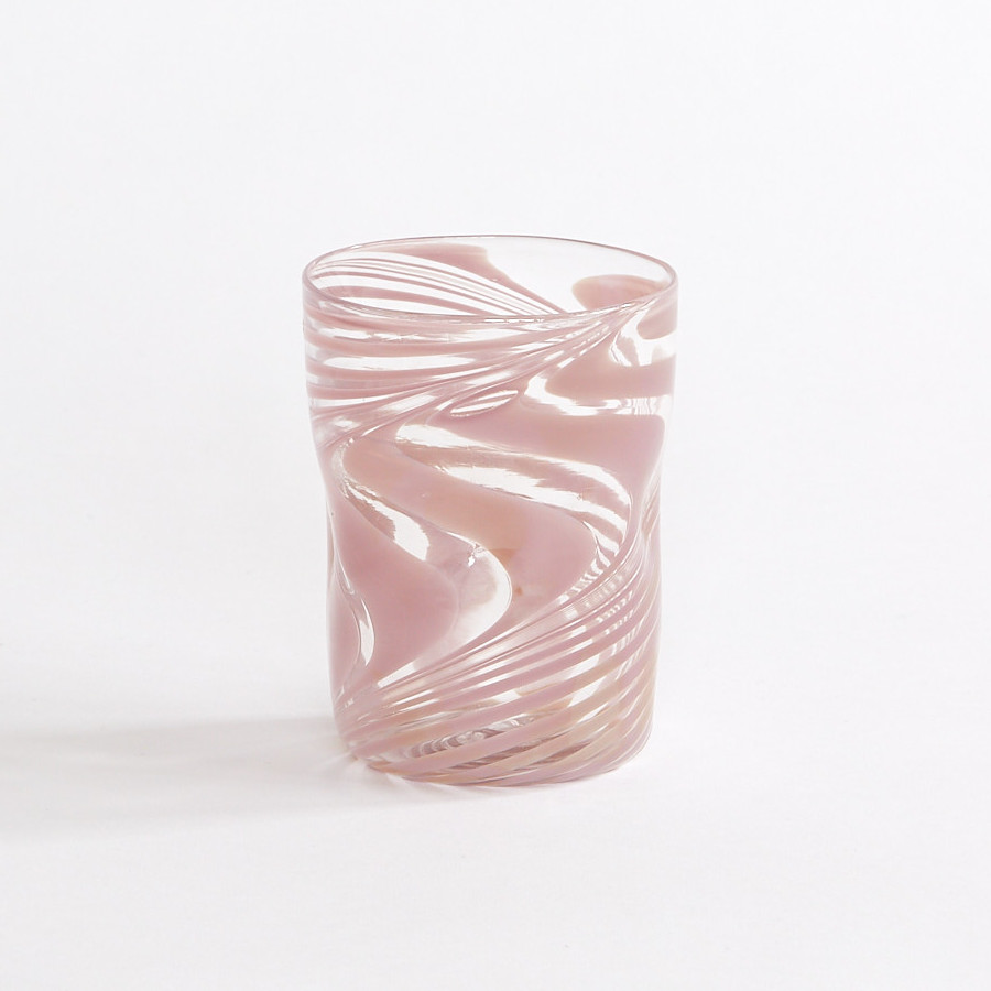 Bright August March The Capri Glass Pink