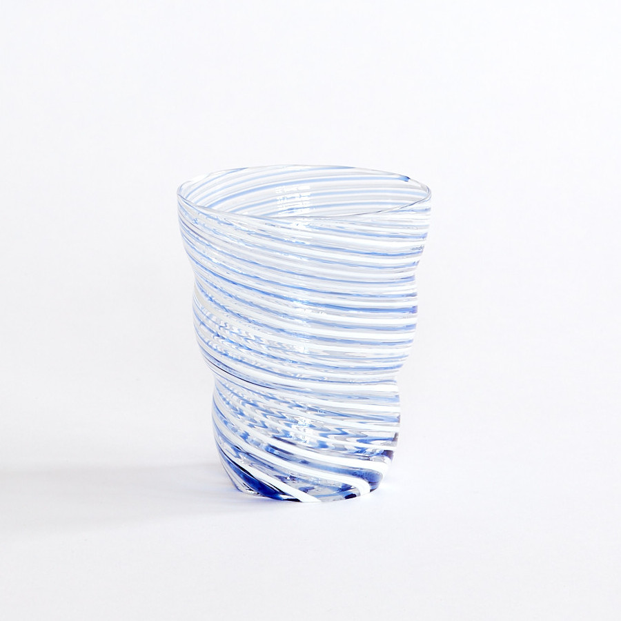 Bright August March The Positano Glass Blue